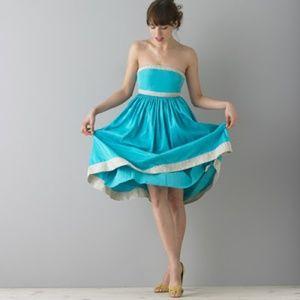 J CREW  NWT BRAND  SILK STRAPLESS DRESS  10